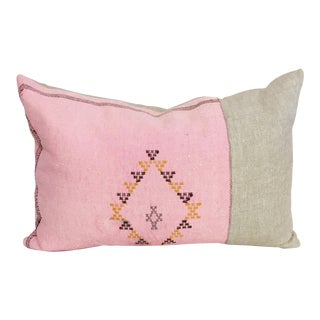 Pink Cactus Silk Sabra Pillow For Sale