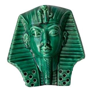 Vintage Pharaoh Head on Acrylic Base For Sale