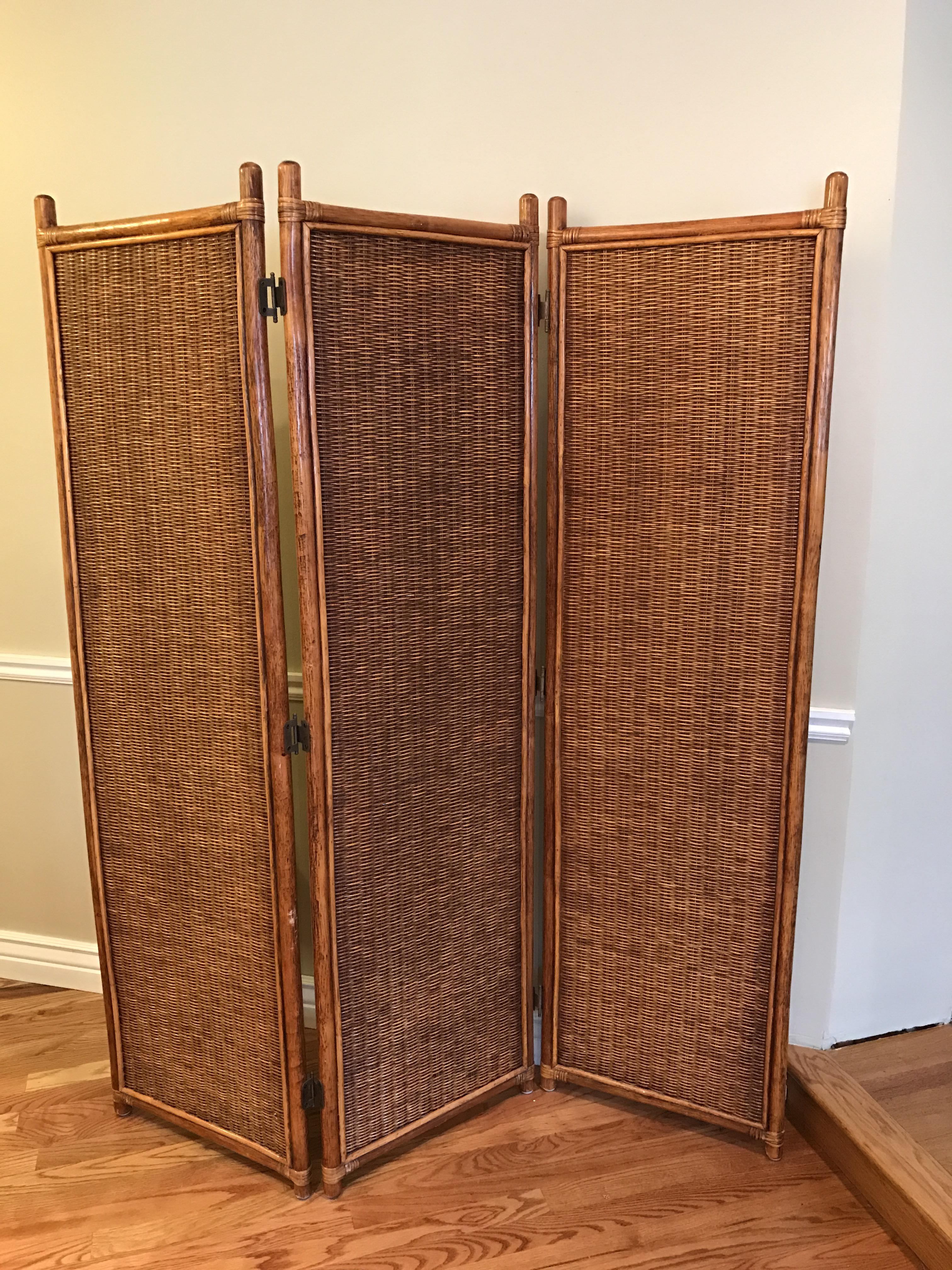 Vintage Rattan Room Divider Chairish