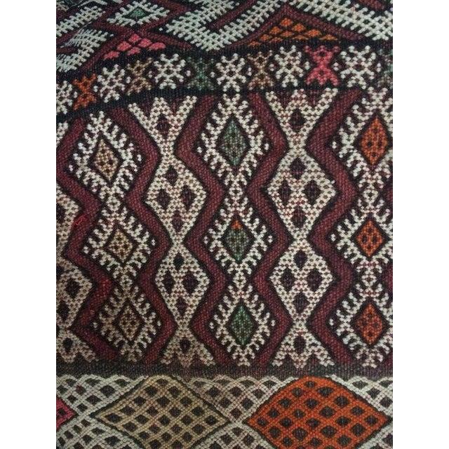 Vintage Moroccan Textile Kilim Pillow - Image 4 of 6