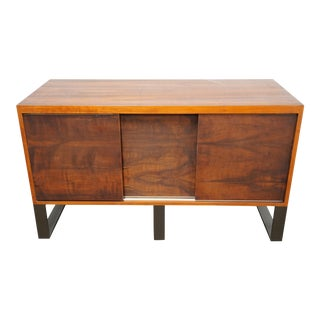 Thomas Hayes Custom Quadrar Wood Credenza For Sale