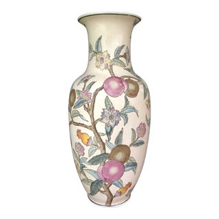 Vintage Chinese Peach Vase For Sale