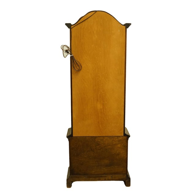 """20th Century French Country Brandt 25"""" Illuminated Curio Display Cabinet With Bonnet Top For Sale - Image 10 of 13"""