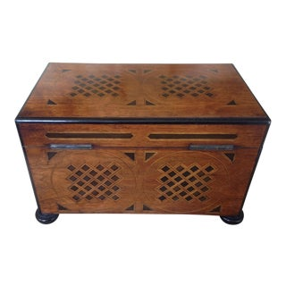 19th Century English Traditional Walnut Tea Chese For Sale
