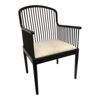 Italian Stendig Black Lacquer Armchair For Sale