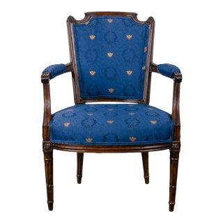 18th Century Louis XVI Walnut Armchair For Sale