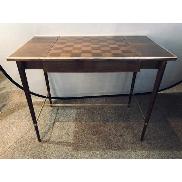 "A fine Mid-Century Modern card game table ""The Paul McCobb Connoisseur Collection"" fully French hand polished refinished..."