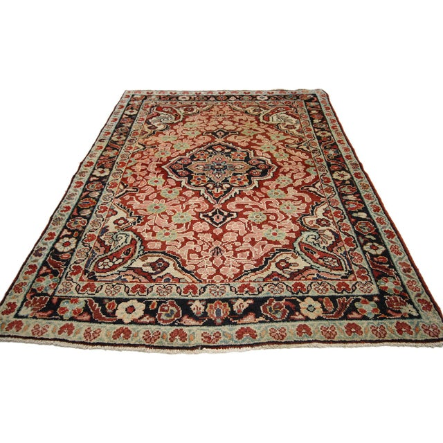 Vintage Persian Mahal Rug - 4'1 x 6'3 For Sale - Image 4 of 8
