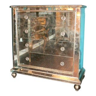 Custom Mirrored Ball Foot Dressers For Sale