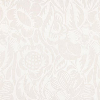 Scalamandre Deco Flower Fabric in Pearl Grey Sample For Sale