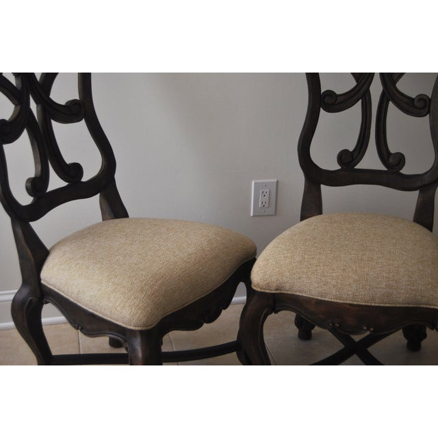 A Pair of French Style Wood Back Side Chairs - Image 5 of 11