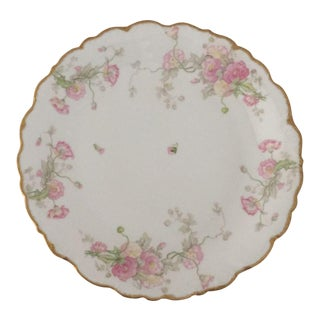 Antique Limoges Large Floral Design Platter For Sale