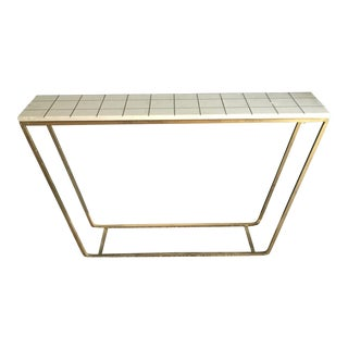 Brass & Stone Console Table