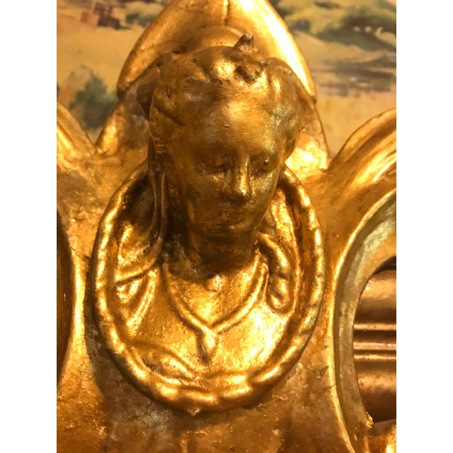 Antique Ornate Victorian Style Gilt Fireplace Mantel Topper For Sale - Image 12 of 13