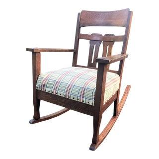 Vintage Mission Oak Rocking Chair For Sale