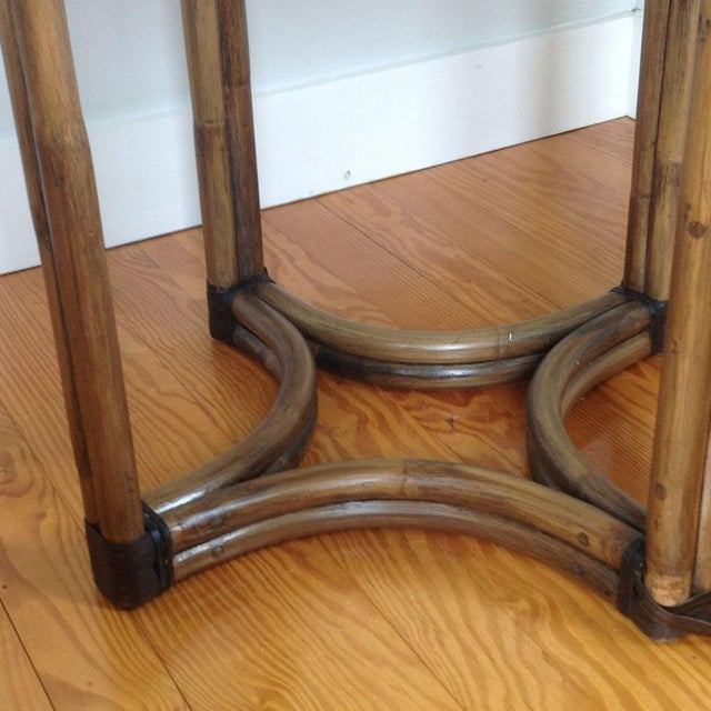 Bentwood & Rattan Side Table - Image 4 of 8