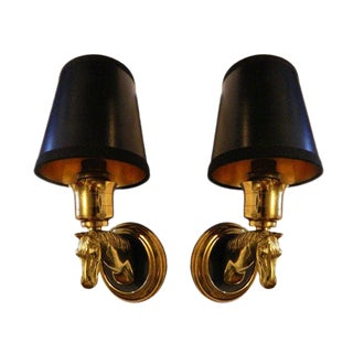 Vintage 1950s Maison Lancel Sconces - a Pair For Sale