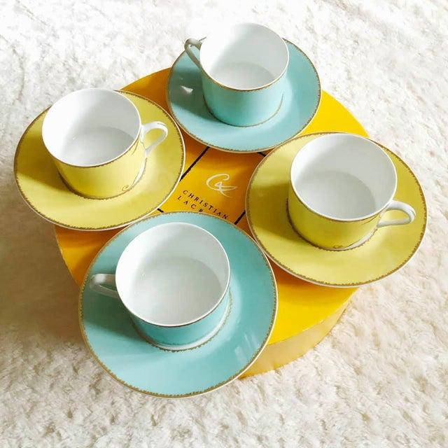 """White Christian LaCroix Paris """"Follement"""" Coffee Tea Set, France - Set of 4 For Sale - Image 8 of 13"""