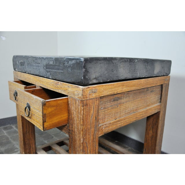 Brown 17th Century Chinese Stone Top Incense Table From the Qing Dynasty For Sale - Image 8 of 13
