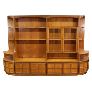 Mid Century 4 Piece Teak Wall Unit by Nathan Furniture For Sale