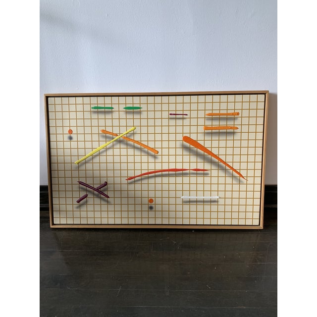 1980s 1980s Joseph Ramsauer Postmodern Abstract Painting For Sale - Image 5 of 5