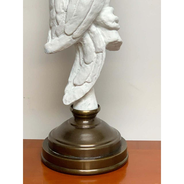 White Lacquered and Brass Parrot Lamps - a Pair For Sale - Image 4 of 13