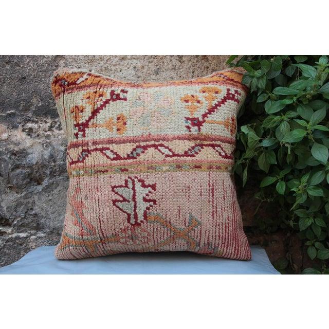 Vintage Turkish Oushak Pillow For Sale - Image 9 of 9
