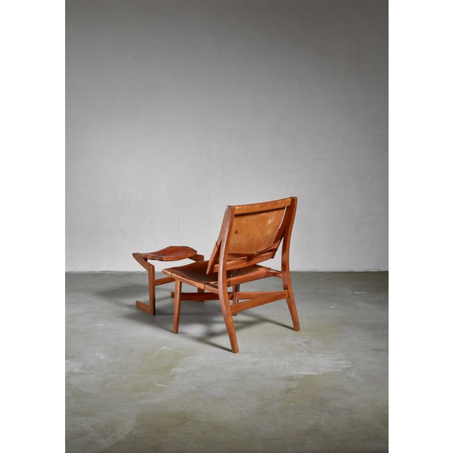 Studio Craft Lounge Chair With Ottoman, Usa For Sale - Image 4 of 6