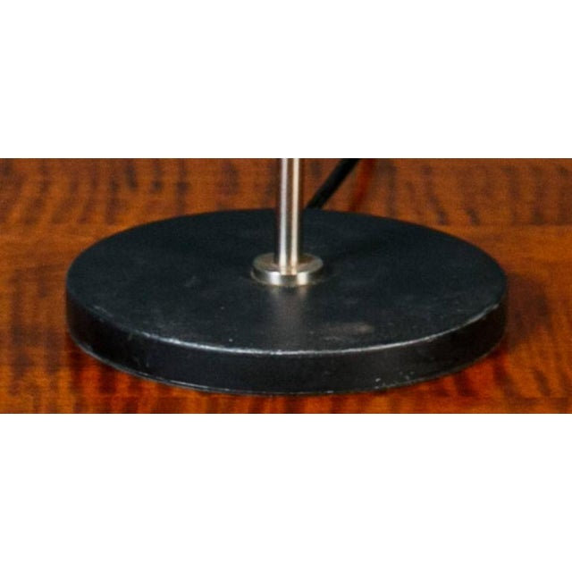 Mid-Century Modern Black Mid-Century Modern Table Lamp With Round Metal Shade, Circa 1960 For Sale - Image 3 of 8