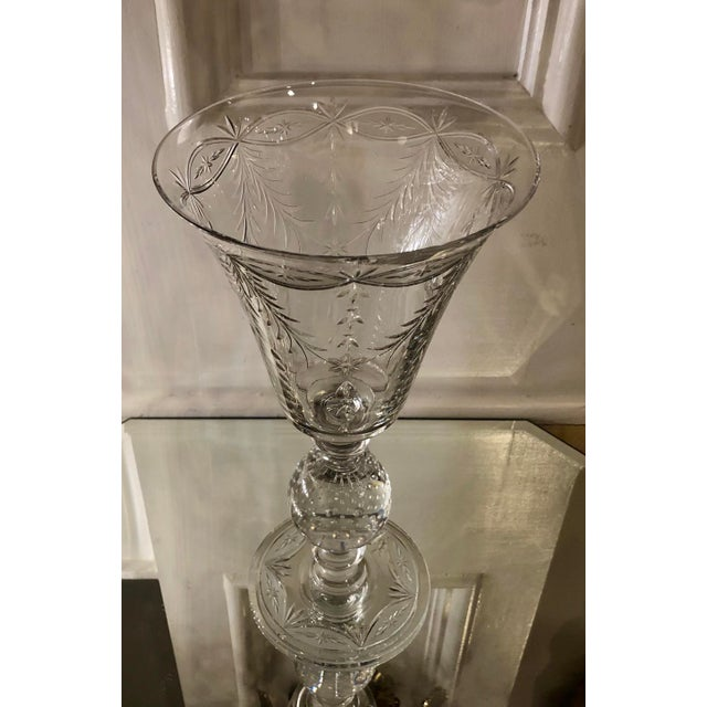 Antique Art Deco Pairpoint Crystal Chalice