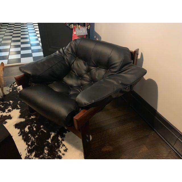 Fantastic Mid Century Modern Black Leather Chair Inzonedesignstudio Interior Chair Design Inzonedesignstudiocom
