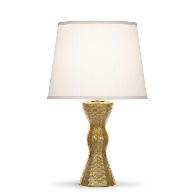White Amber & Platinum Calypso Table Lamp For Sale - Image 8 of 8