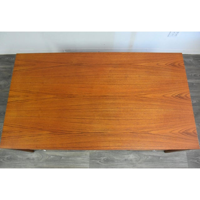 "France & Sons Teak Executive ""Diplomat"" Desk by Finn Juhl For Sale - Image 4 of 13"