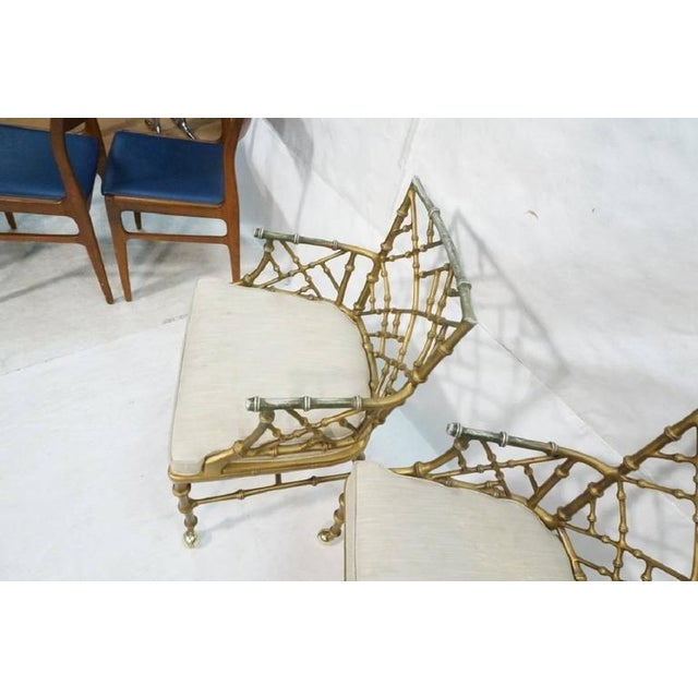 1970s 1970s Hollywood Regency Phyllis Morris Metal Bamboo Armchairs - Set of 4 For Sale - Image 5 of 6