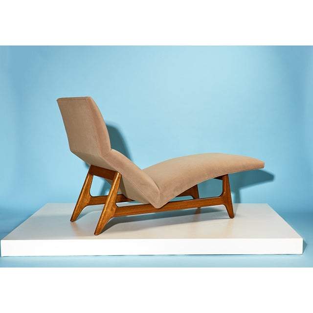 Mid-Century Modern Harvey Probber Chaise Lounge Circa 1950s For Sale - Image 3 of 7