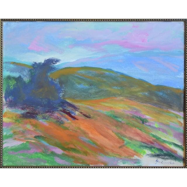 "Ojai, California landscape painting on canvas by Juan ""Pepe"" Guzman-Maldonado (Chile b.1948). The artist is known for his..."