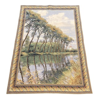 Flanders Belgium Canal Tapestry For Sale