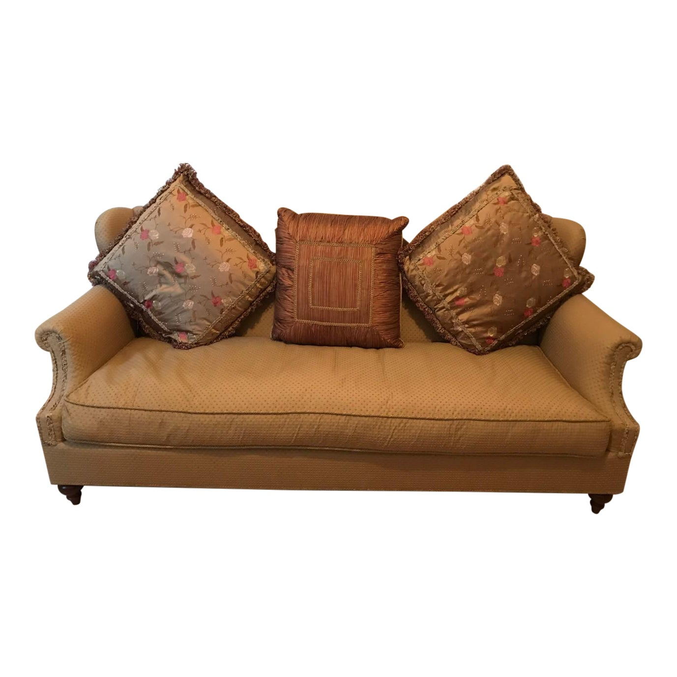 Astounding Domain Victorian Style Sofa With Pillows Chairish Caraccident5 Cool Chair Designs And Ideas Caraccident5Info