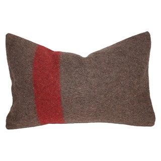 Vintage Swiss Army Blanket Lumbar Pillow