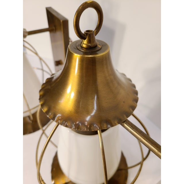 1950s Vintage Nautical Earl Lites Wall Sconces - a Pair For Sale - Image 5 of 13