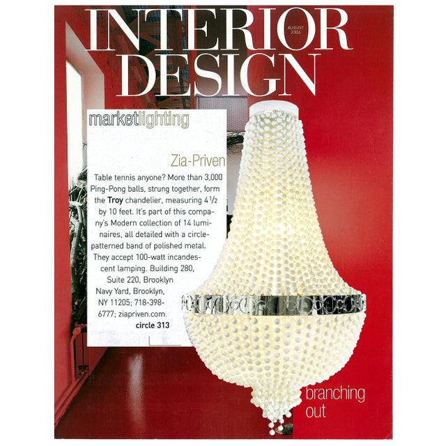 Contemporary Troy Ping-Pong Chandelier by Zia Priven For Sale - Image 3 of 6