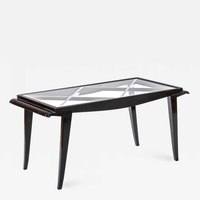 Maxime Old Documented Mahogany Refined Coffee Table For Sale - Image 6 of 6