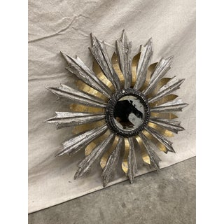 Sunburst Wood and Metal Wall Mirror Preview