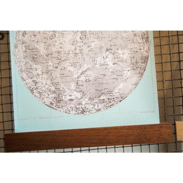 Aqua Mini Moon Chart Art Print - Image 3 of 6
