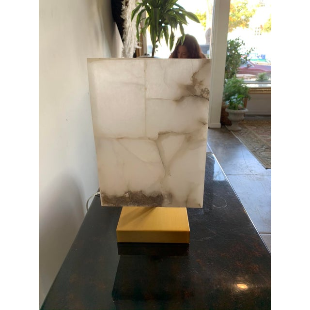 Jamie Young Alabaster Ghost Horizon Lamp For Sale In Los Angeles - Image 6 of 8