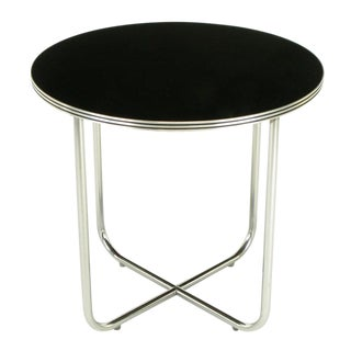 Wolfgang Hoffmann Art Deco Chrome & Black Micarta Center Table For Sale