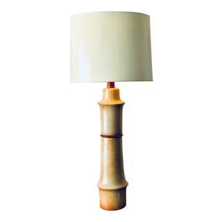Monumental Martz Ceramic Lamp For Sale