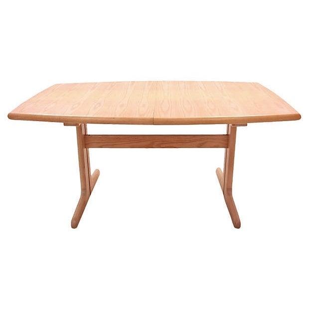 Mid-Century Modern Trestle Table - Image 2 of 7