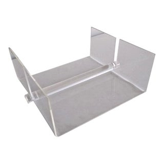 Vintage Lucite Napkin Holder - Made in Italy For Sale