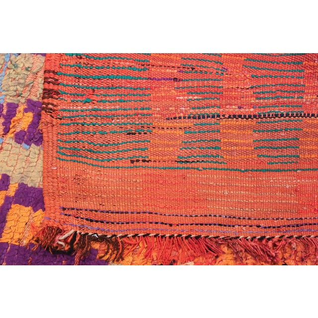 Boho Chic Vintage Moroccan Colorful Rug - 5′2″ × 10′ For Sale - Image 3 of 12